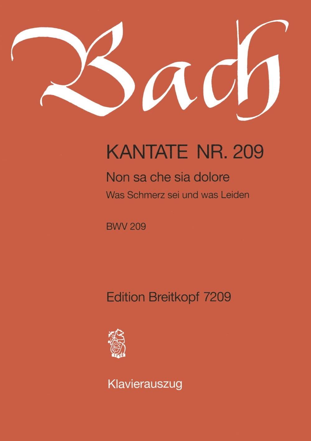 BACH - Cantate 209 No sa Che Sia Dolore - Partition - di-arezzo.co.uk