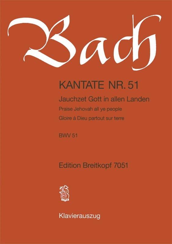 Cantate 51 Jauchzet Gott In Allen Landen - BACH - laflutedepan.com