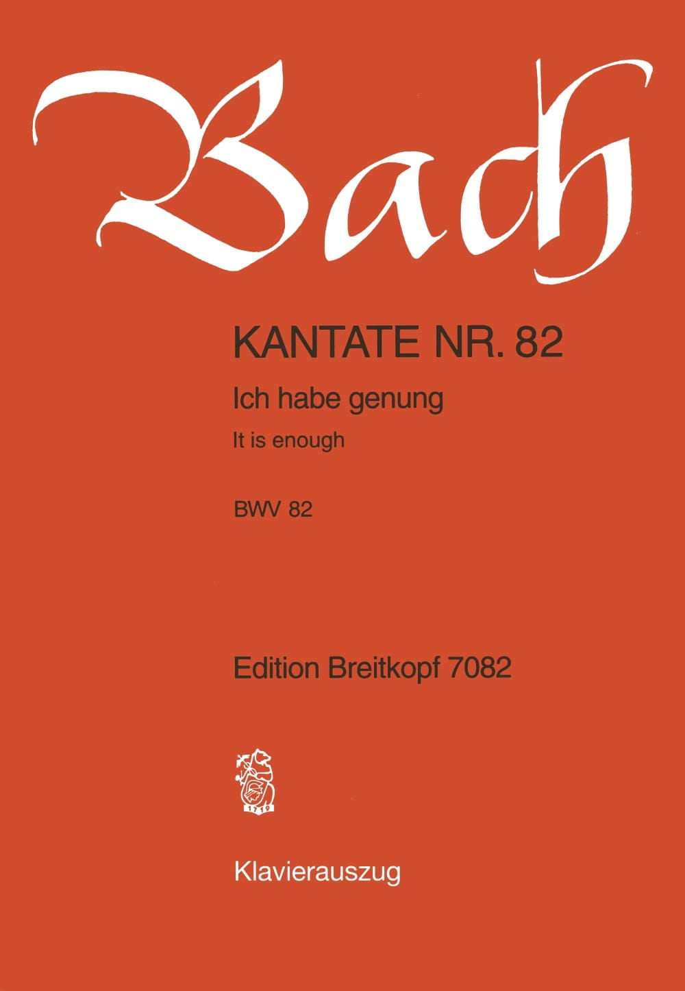 Cantate 82 Ich Habe Genug - BACH - Partition - laflutedepan.com