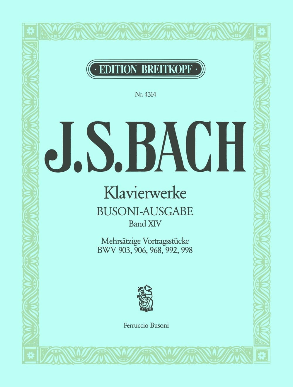 Bach Jean-Sébastien / Busoni Ferruccio - Keyboard Works Volume 14 - Partition - di-arezzo.co.uk