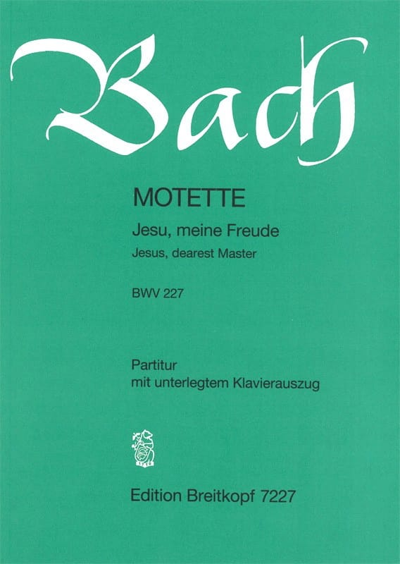 BACH - Motette No. 3 Jesu, Meine Freude. BWV 227 - Partition - di-arezzo.co.uk