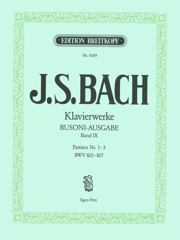 Bach Jean-Sébastien / Busoni Ferruccio - Partiten, Nr. 1-3. Volume 9 - Partition - di-arezzo.com
