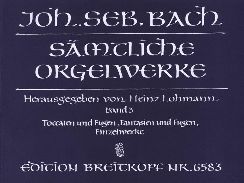 BACH - Sämtliche Orgelwerke Volume 3 - Partition - di-arezzo.com