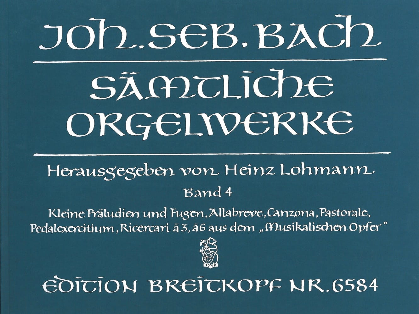 BACH - Sämtliche Orgelwerke Volume 4 - Partition - di-arezzo.co.uk