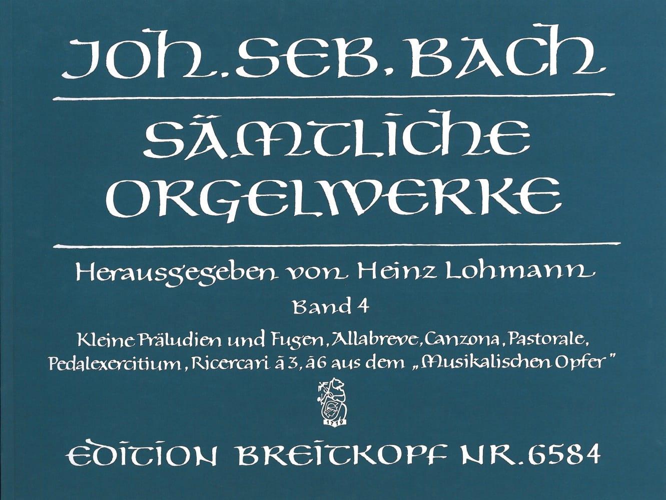 BACH - Sämtliche Orgelwerke Volume 4 - Partition - di-arezzo.com