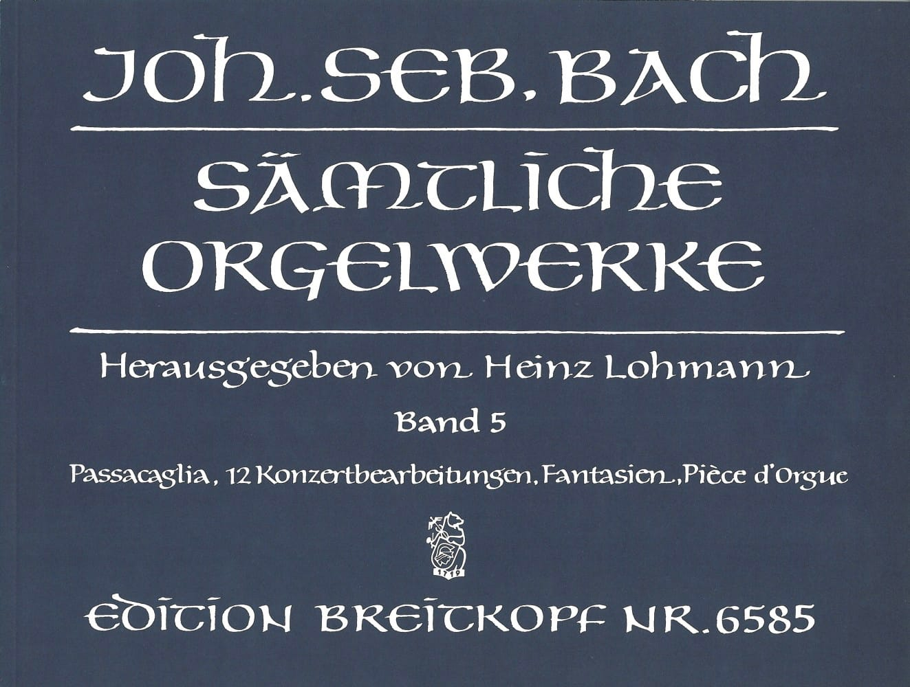 BACH - Sämtliche Orgelwerke Volume 5 - Partition - di-arezzo.co.uk