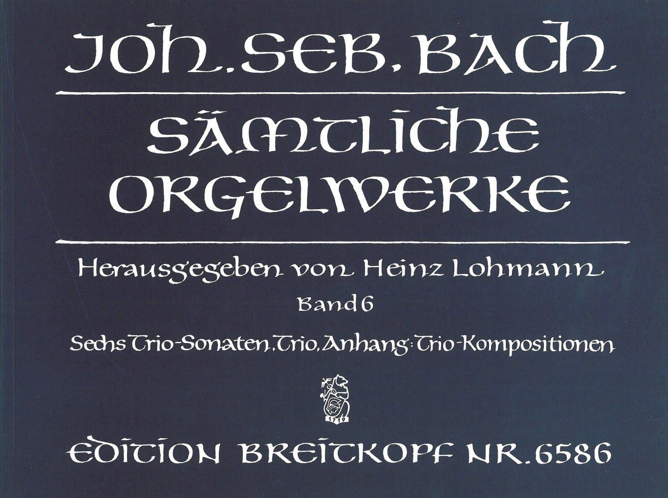 BACH - Sämtliche Orgelwerke Volume 6 - Partition - di-arezzo.com