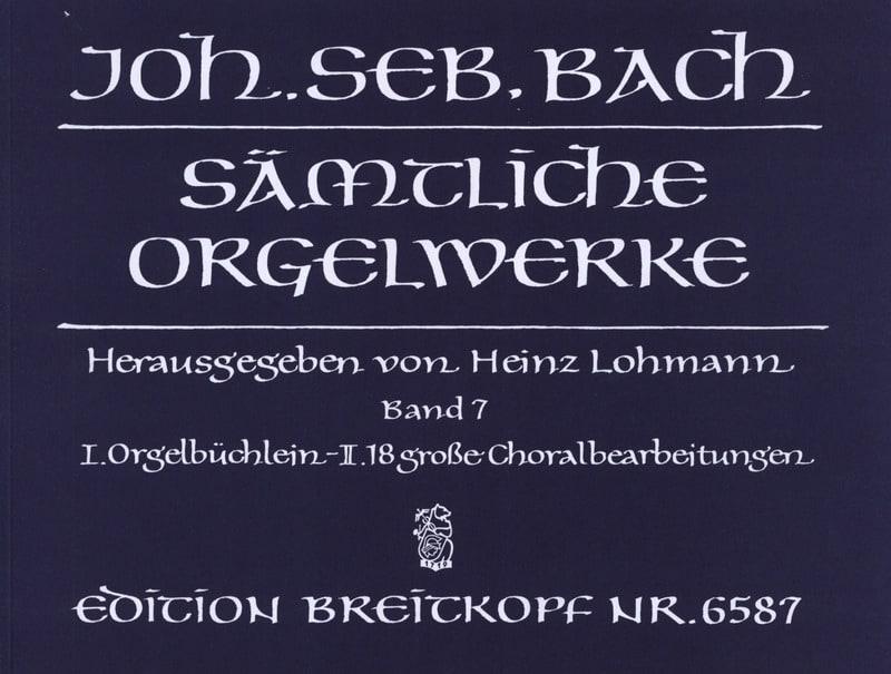 BACH - Sämtliche Orgelwerke Volume 7 - Partition - di-arezzo.com