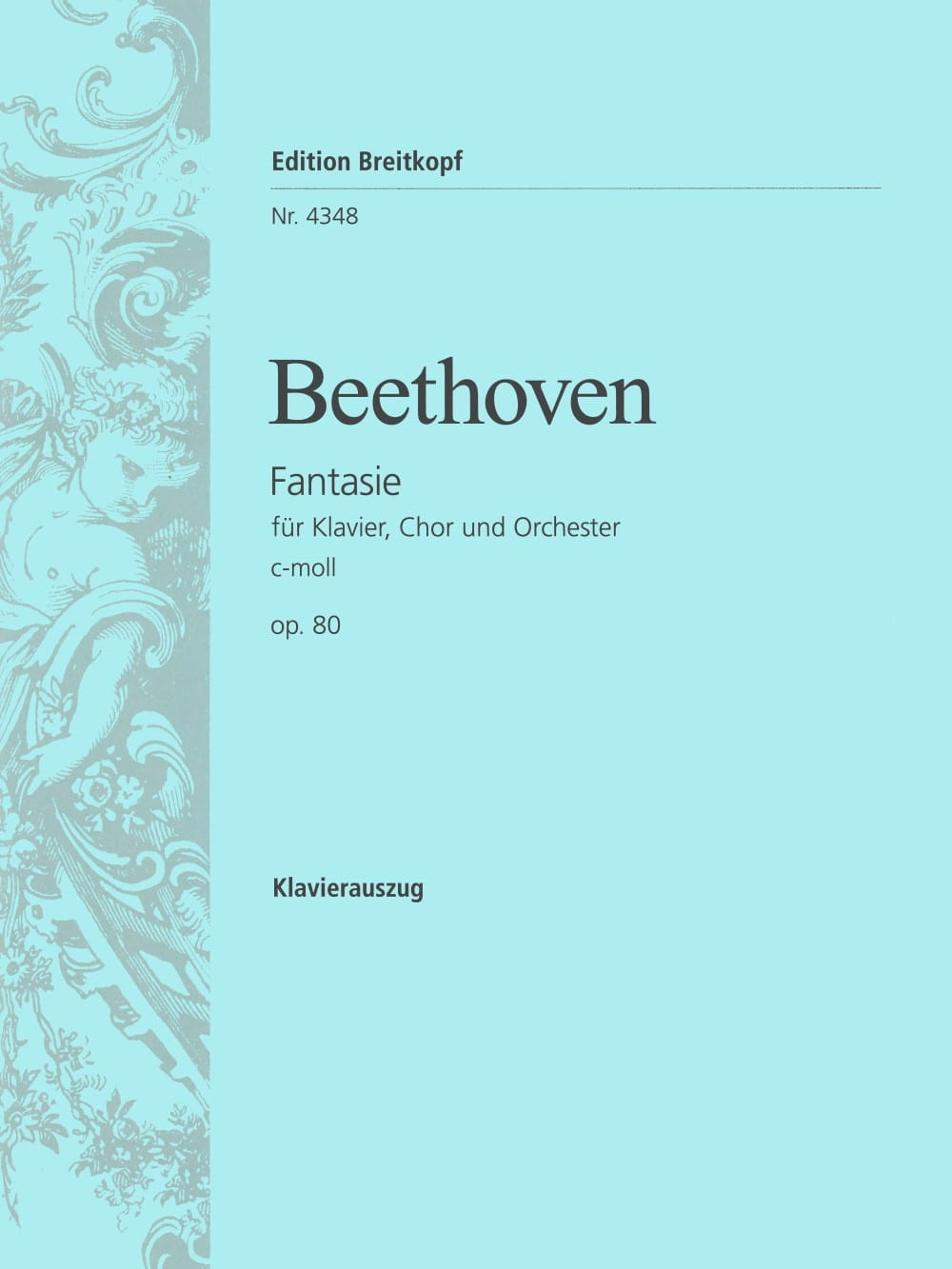 BEETHOVEN - Chorfantasie C-Moll Opus 80 - Partition - di-arezzo.jp