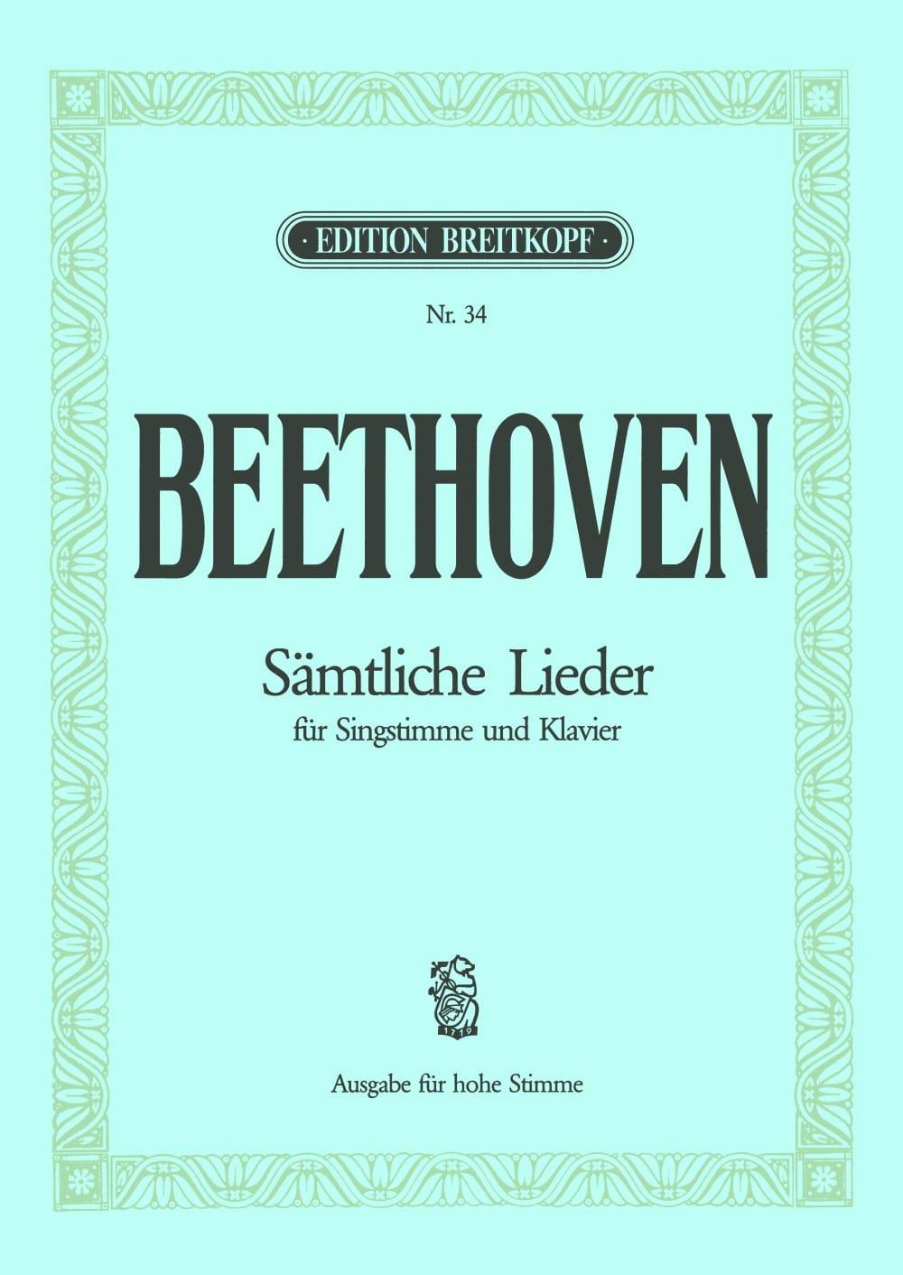 BEETHOVEN - Sämtliche Lieder. Aloud - Partition - di-arezzo.co.uk
