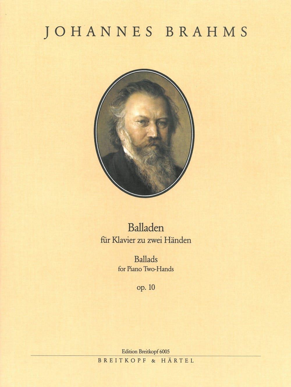 BRAHMS - Balladen Opus 10 - Partition - di-arezzo.co.uk