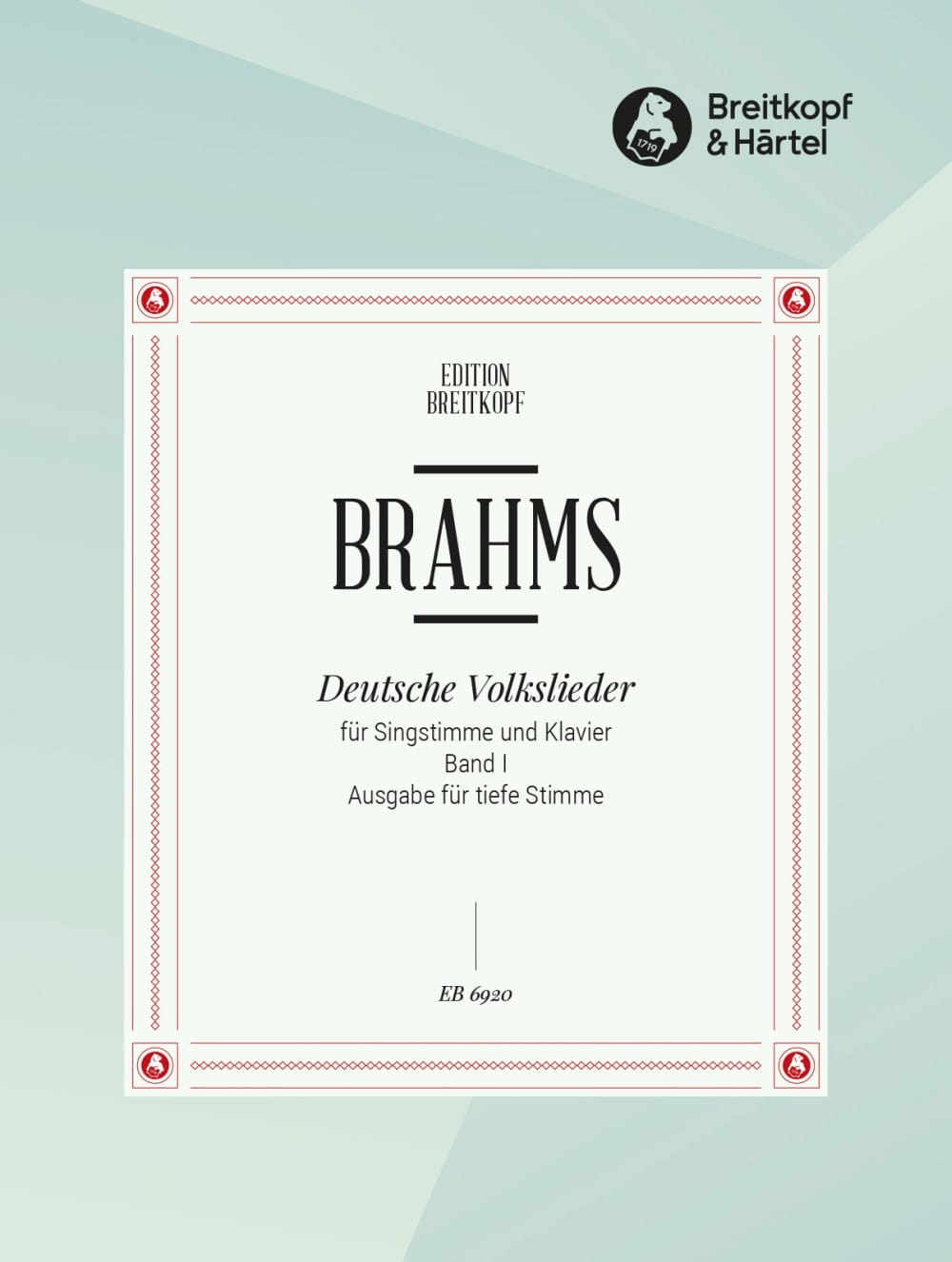 BRAHMS - Deutsche Volkslieder, Serious Voice Volume 1 - Partition - di-arezzo.com