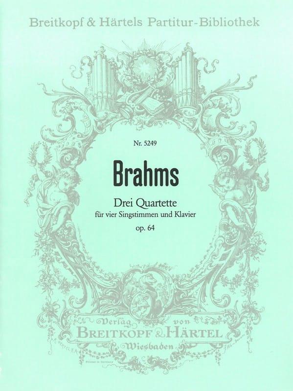 BRAHMS - 3 Quartet Opus 64 - Partition - di-arezzo.co.uk