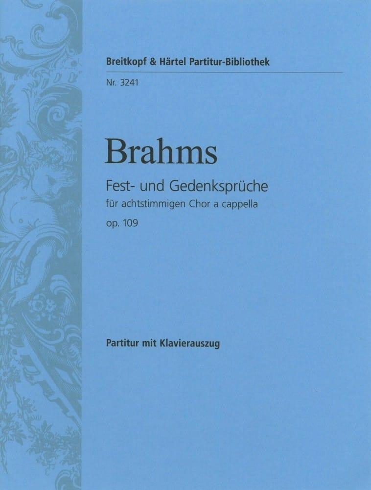 Fest-Und Gedenksprüche Opus 109 - BRAHMS - laflutedepan.com