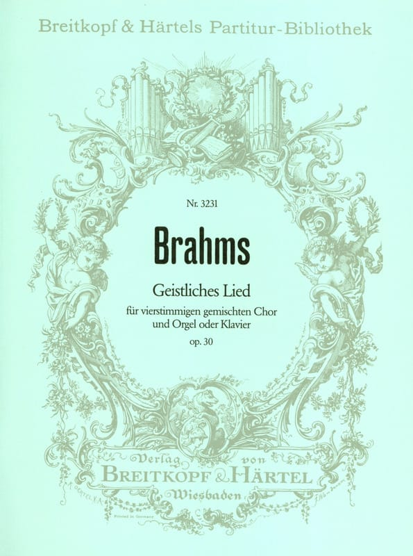 BRAHMS - Geistliches Lied Opus 30 - Partition - di-arezzo.co.uk