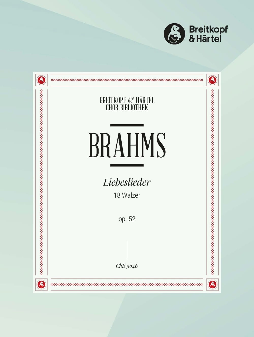 BRAHMS - Liebeslieder Opus 52. Choir - Partition - di-arezzo.co.uk