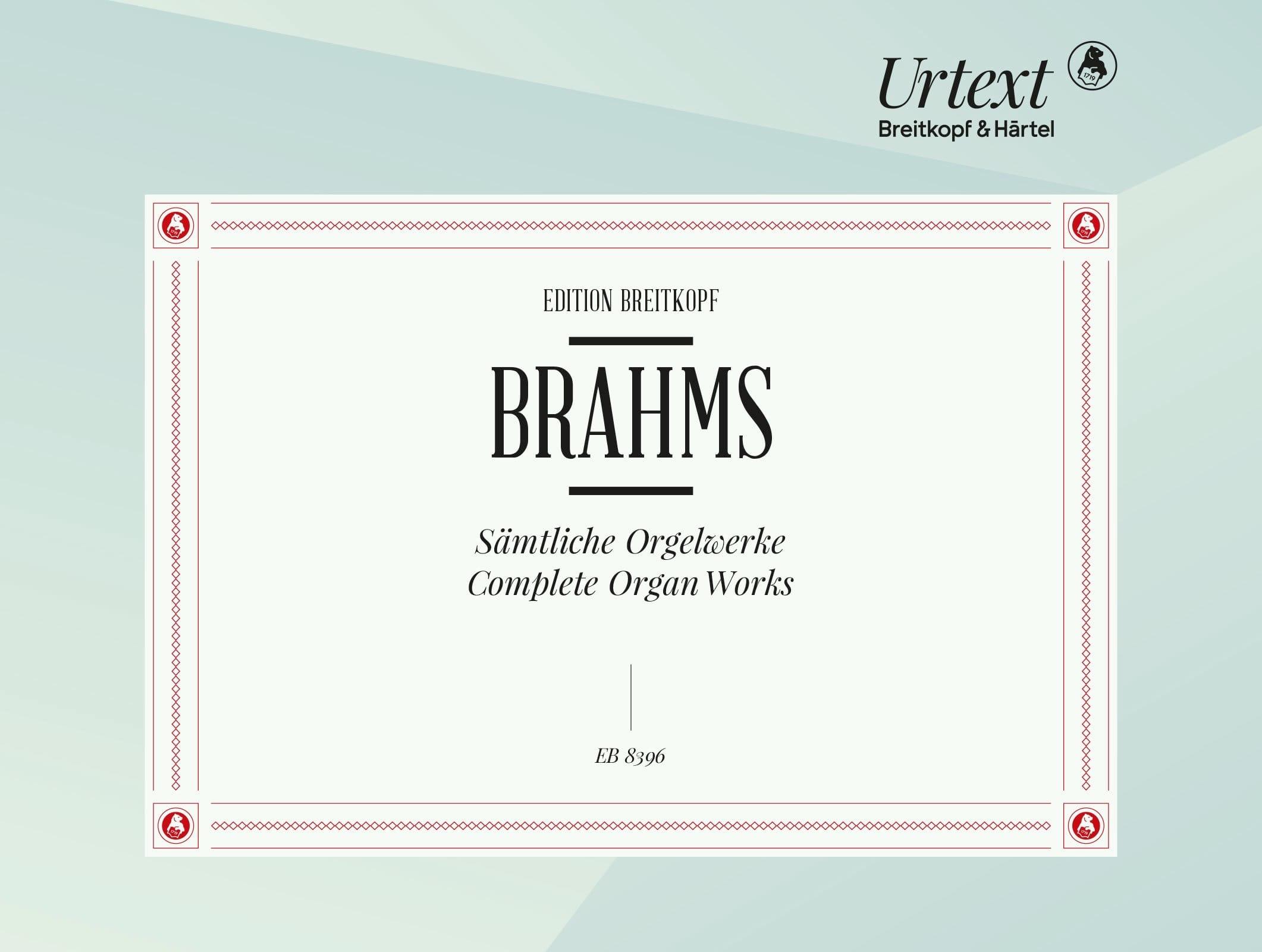 Oeuvres Complètes Orgue - BRAHMS - Partition - laflutedepan.com