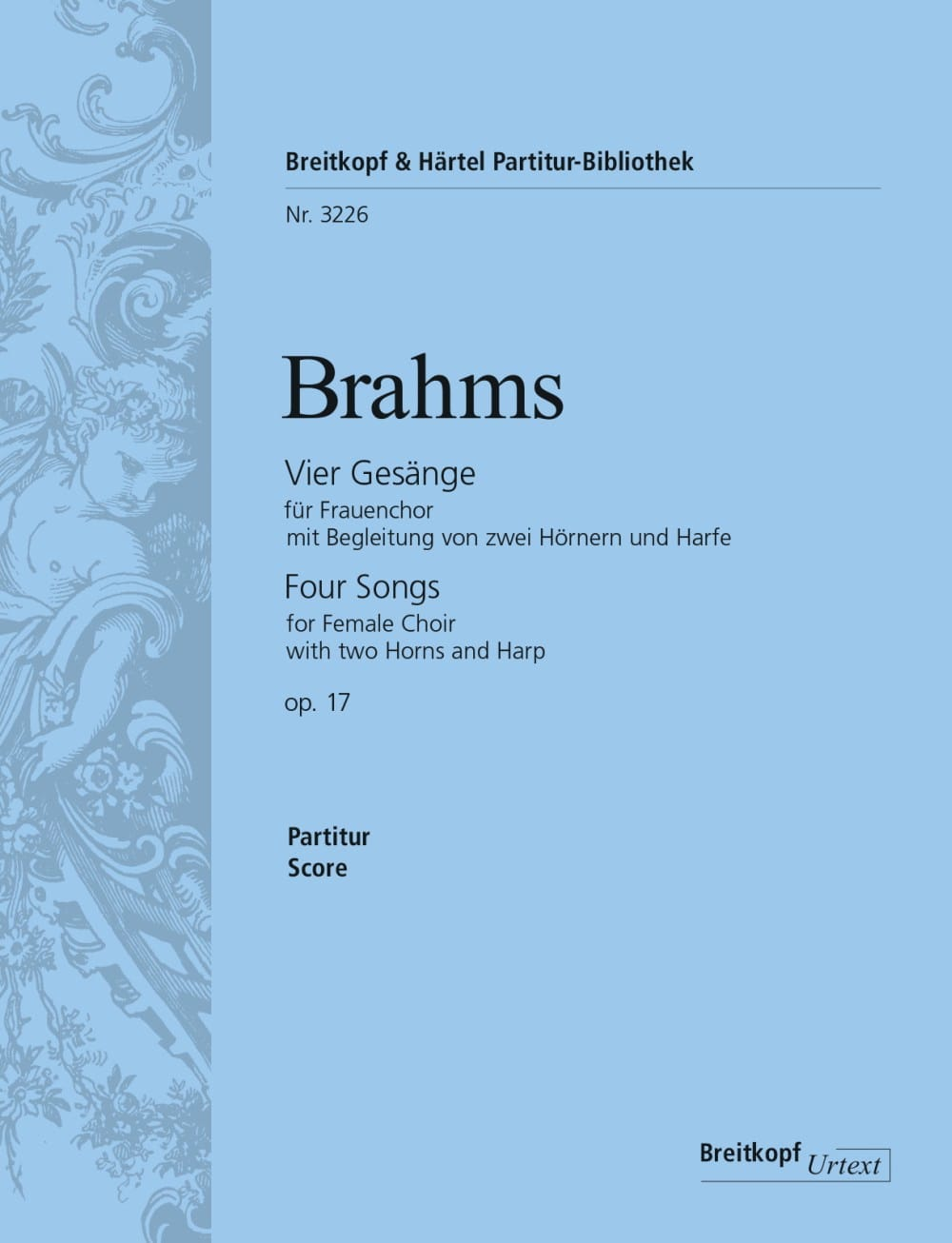 BRAHMS - 4 Gesänge Opus 17 - Partition - di-arezzo.co.uk
