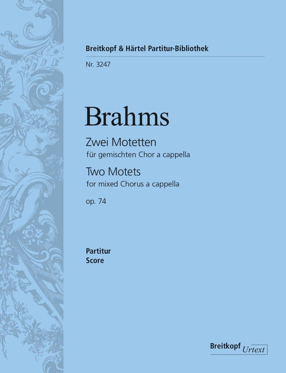 2 Motetten Opus 74 - BRAHMS - Partition - Chœur - laflutedepan.com