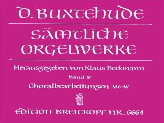 Oeuvre Pour Orgue. Volume 4 - BUXTEHUDE - Partition - laflutedepan.com