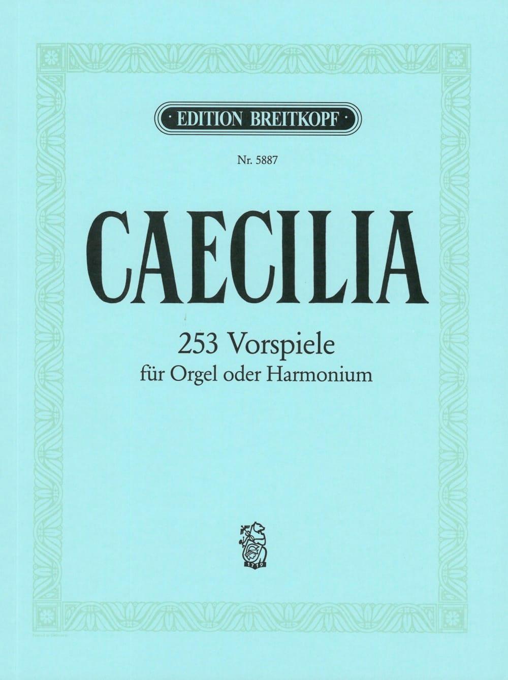 Caecilia - Partition - Orgue - laflutedepan.com