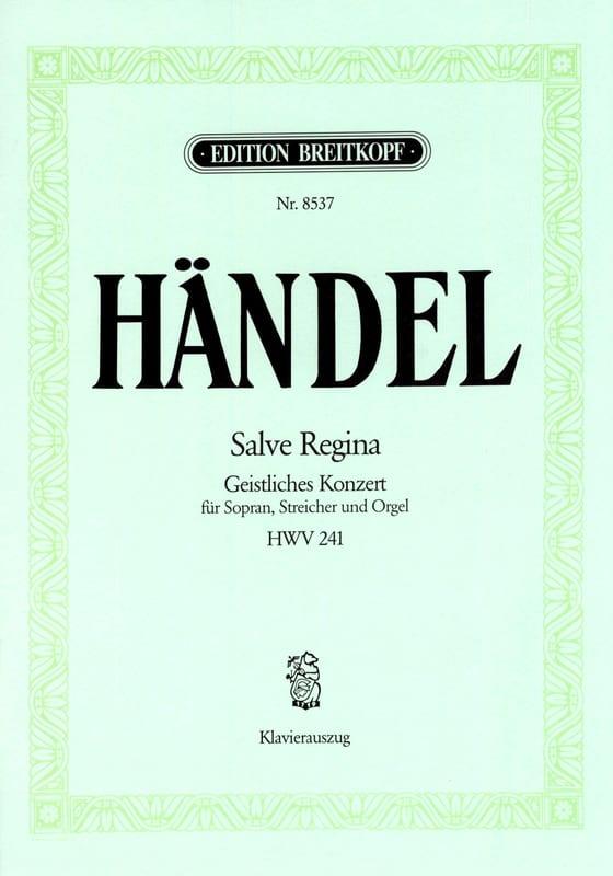 HAENDEL - Salve Regina HWV 241 - Partition - di-arezzo.es