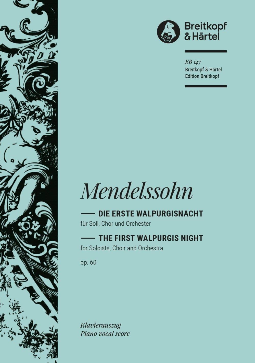 MENDELSSOHN - Die Erste Walpurgisnacht Opus 60 - Partition - di-arezzo.co.uk
