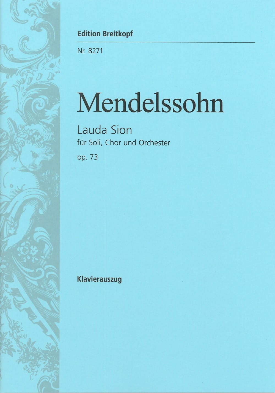 MENDELSSOHN - Lauda Sion Opus 73 - Partition - di-arezzo.com