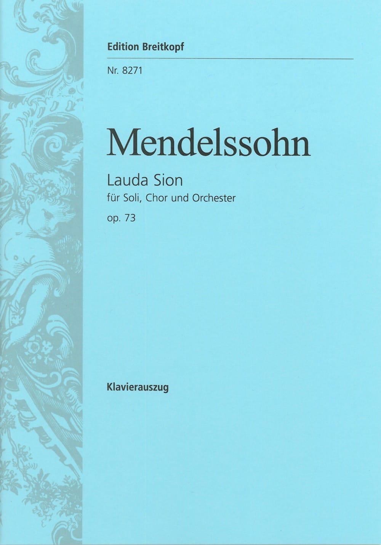 MENDELSSOHN - Lauda Sion Opus 73 - Partition - di-arezzo.co.uk