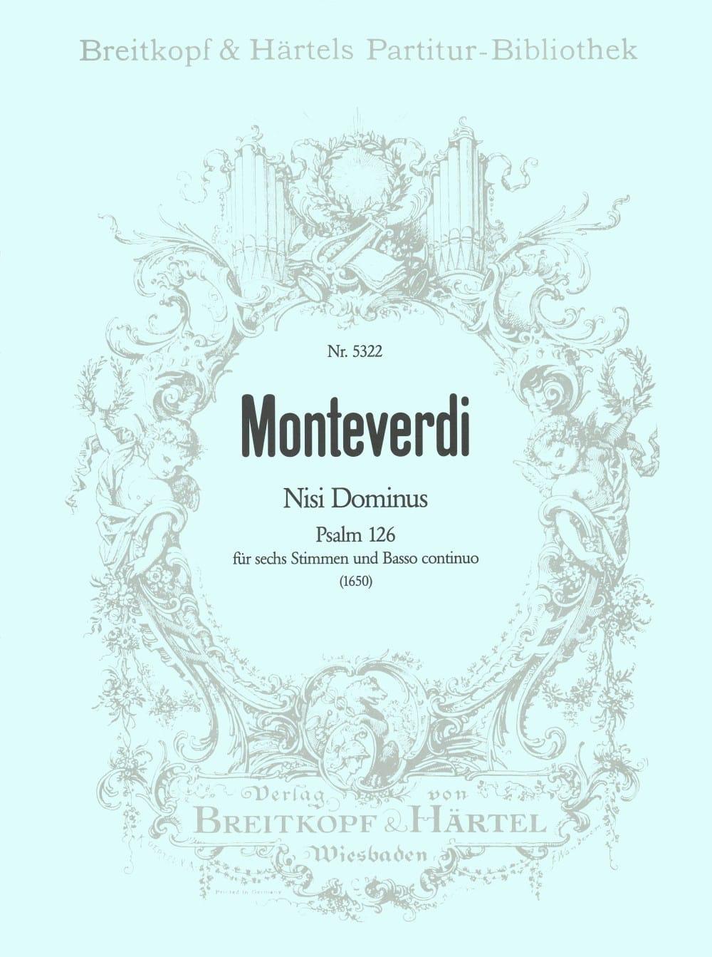 Claudio Monteverdi - Nisi Dominus - Partition - di-arezzo.co.uk