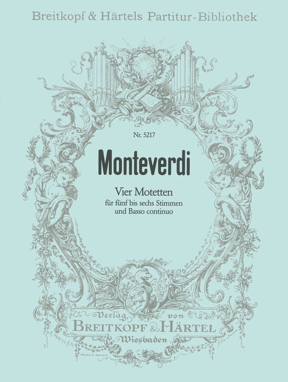 Claudio Monteverdi - 4 Motetten - Partition - di-arezzo.co.uk
