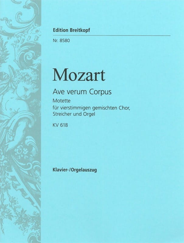 MOZART - Ave Verum Corpus K 618 - Partition - di-arezzo.it
