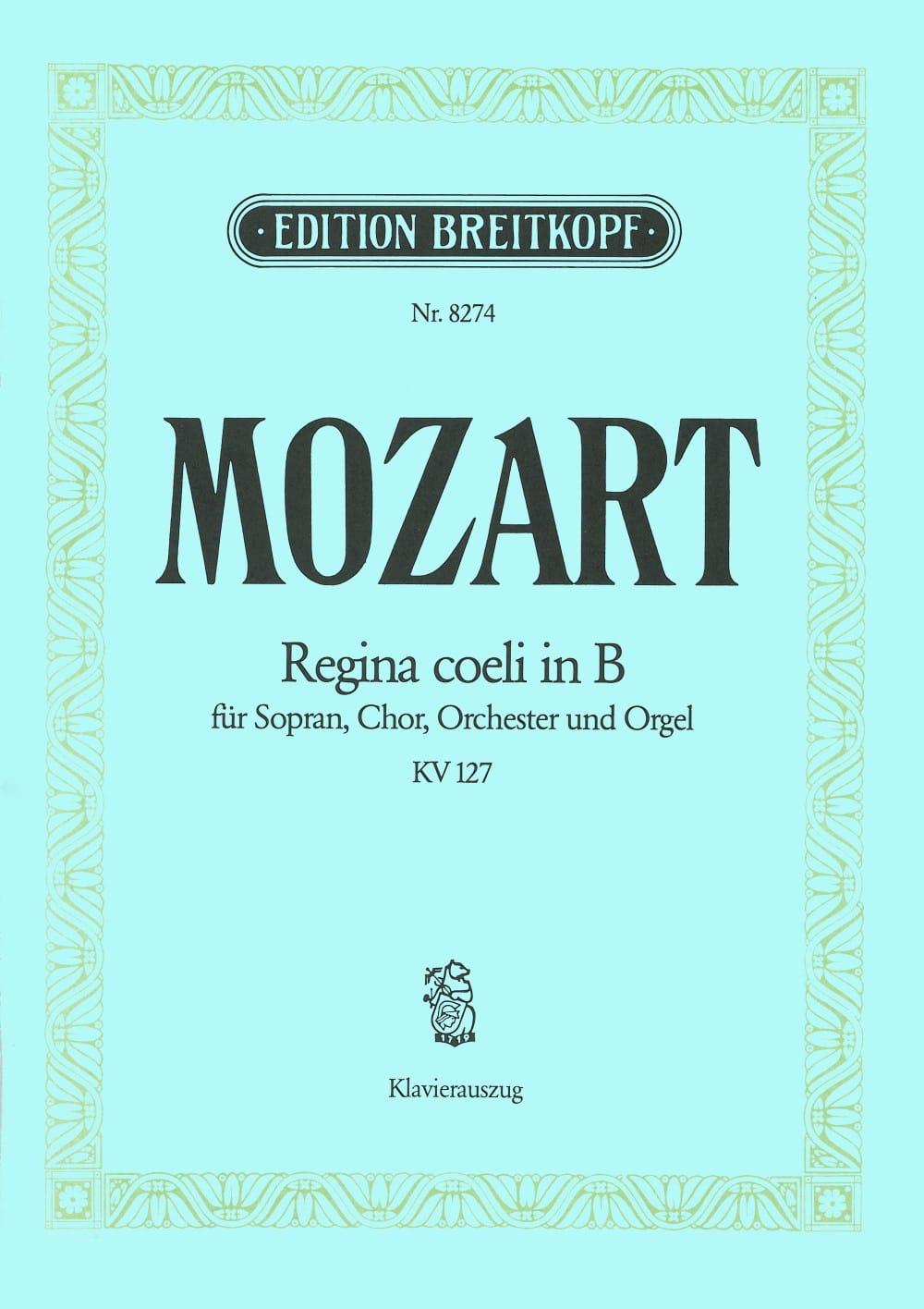 MOZART - Regina Coeli B flat major K 127 - Partition - di-arezzo.com