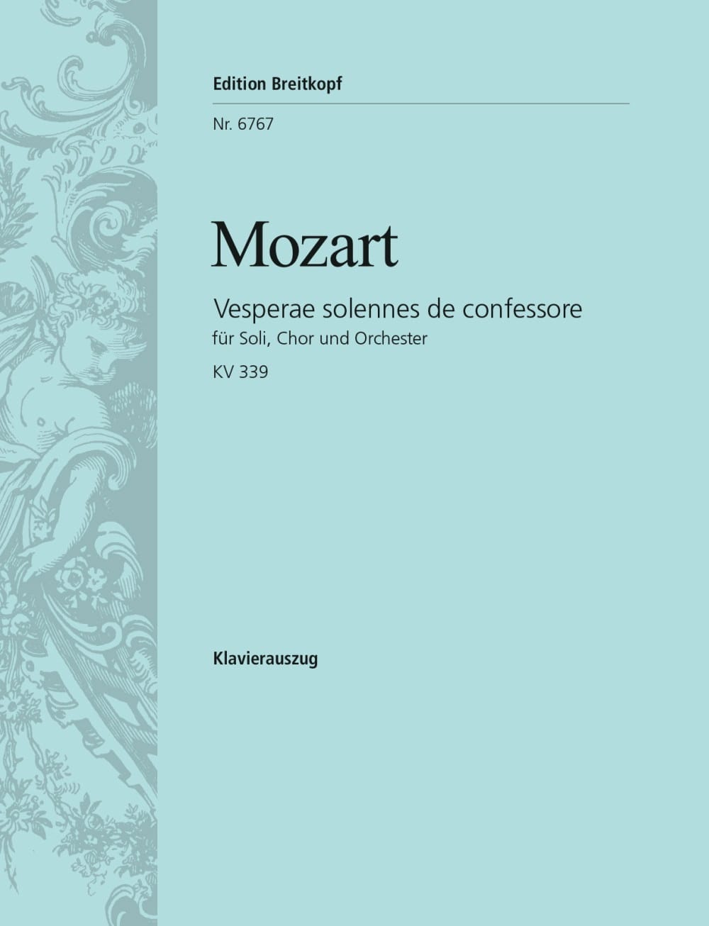 MOZART - Vesperae Solennes C-hard KV 339 - Partition - di-arezzo.it
