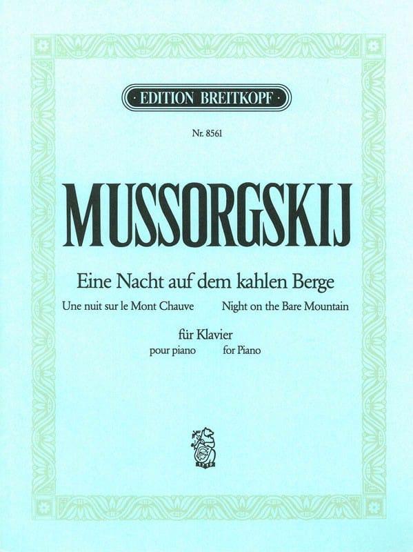 Modest Moussorgsky - Eine Nacht Auf Dem Kahlen Berge - Partition - di-arezzo.es