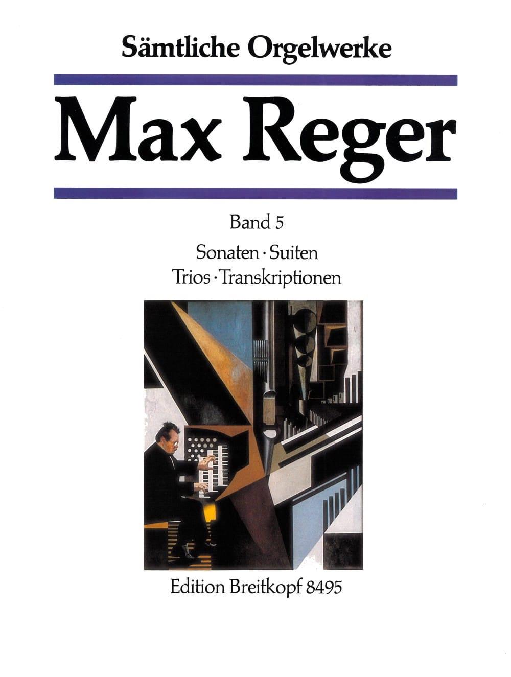 Oeuvre Pour Orgue Volume 5 - Max Reger - Partition - laflutedepan.com