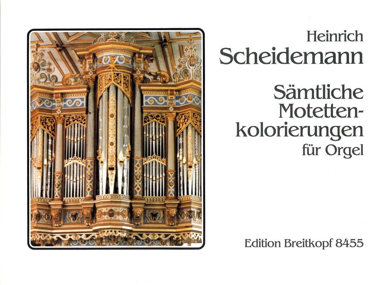Heinrich Scheidemann - Sämtliche Motetten-Kolorierungen - Partition - di-arezzo.fr