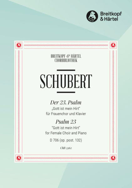 SCHUBERT - Psalm 23 D 706 Opus Post 132 - Partition - di-arezzo.co.uk