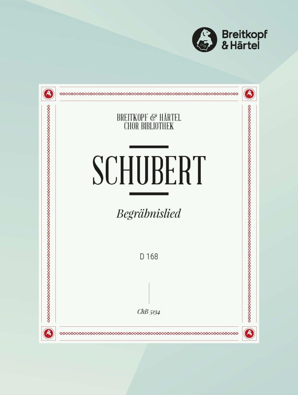 SCHUBERT - Begraebnislied D 168 - Partition - di-arezzo.co.uk
