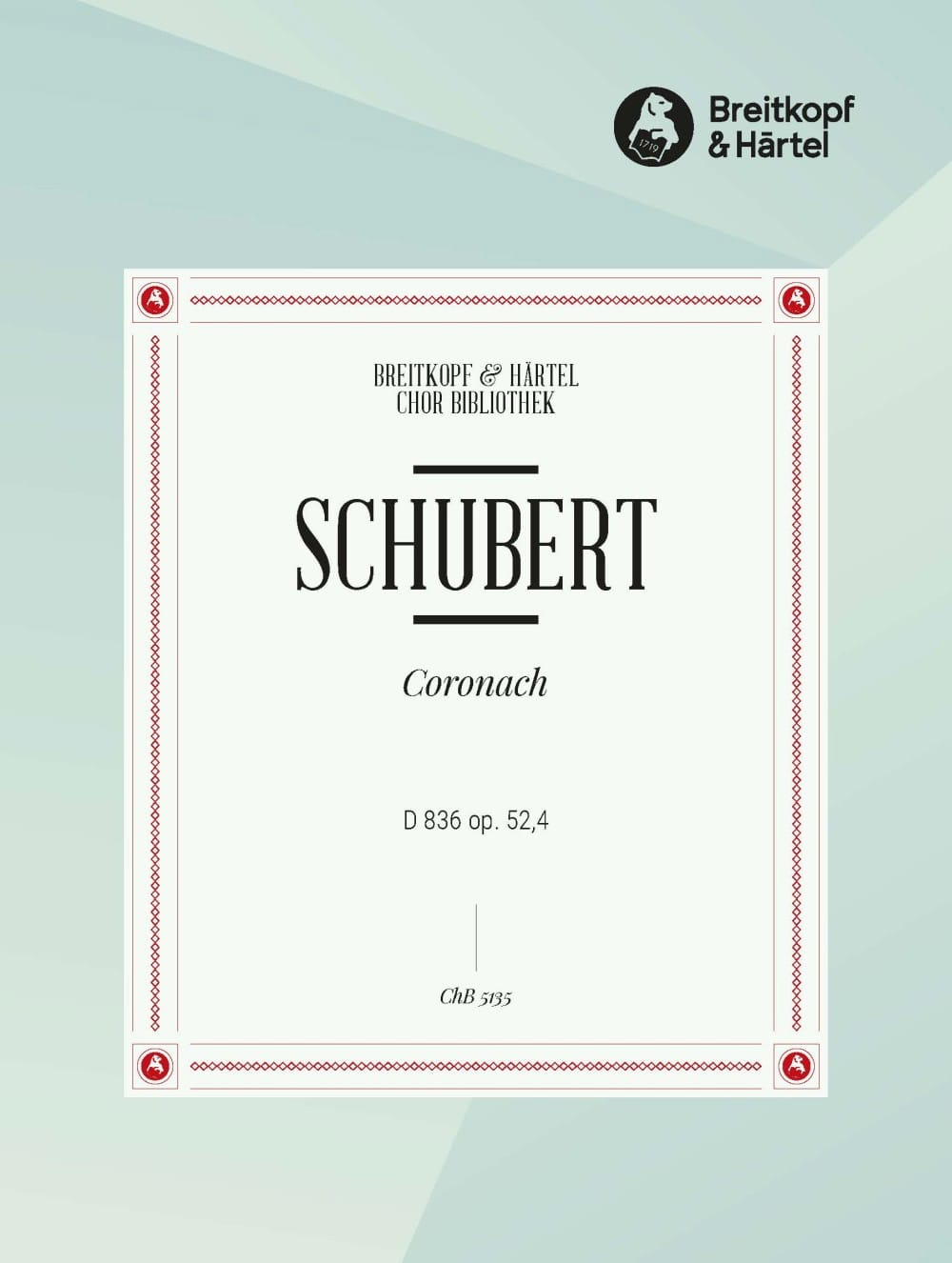 SCHUBERT - Coronach D 836 Opus 52-4 - Partition - di-arezzo.co.uk