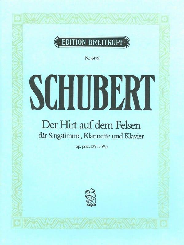 SCHUBERT - Der Hirt Auf Dem Felsen 965. Opus Posth 129 - Partition - di-arezzo.es