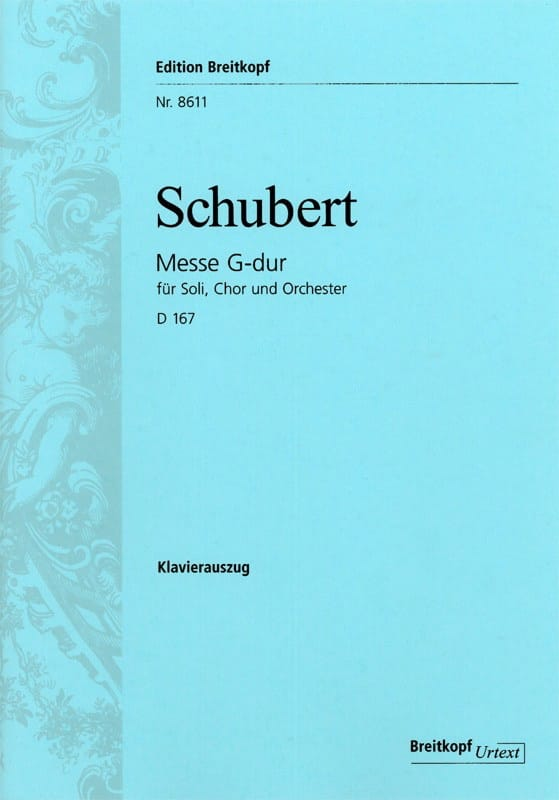SCHUBERT - Mass in G Major D 167 - Partition - di-arezzo.co.uk