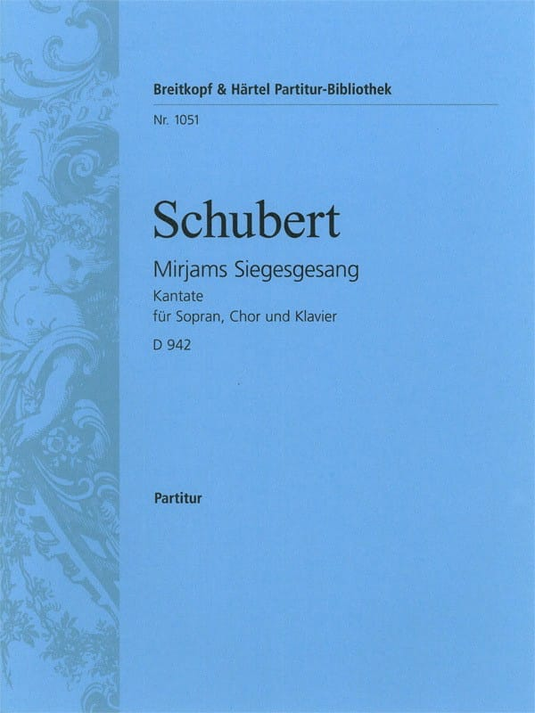 SCHUBERT - Mirjams Siegesgesang - D 942 - Partition - di-arezzo.co.uk