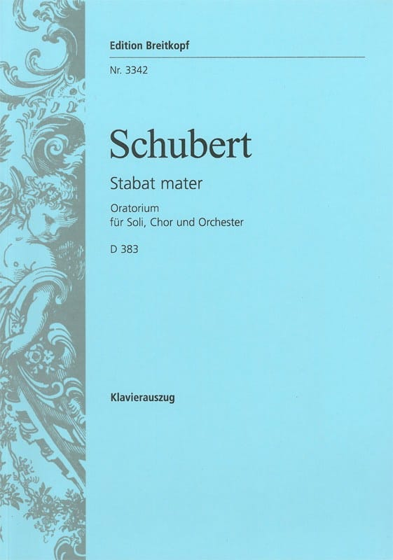 SCHUBERT - Stabat Mater Fa Minor D 383 - Partition - di-arezzo.co.uk