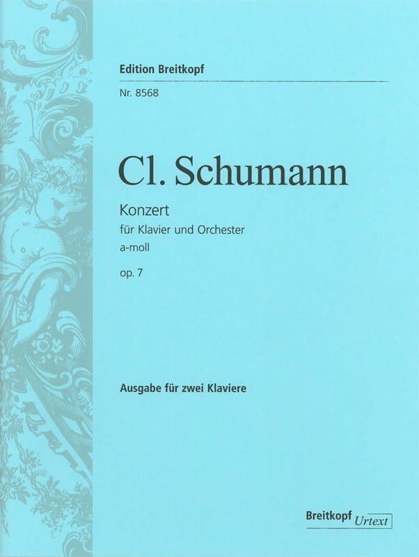 Clara Schumann - Concerto Pour Piano En la Mineur Opus 7 - Partition - di-arezzo.fr