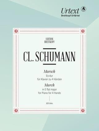 Marche En Mi Bémol Majeur. 4 Mains - Clara Schumann - laflutedepan.com