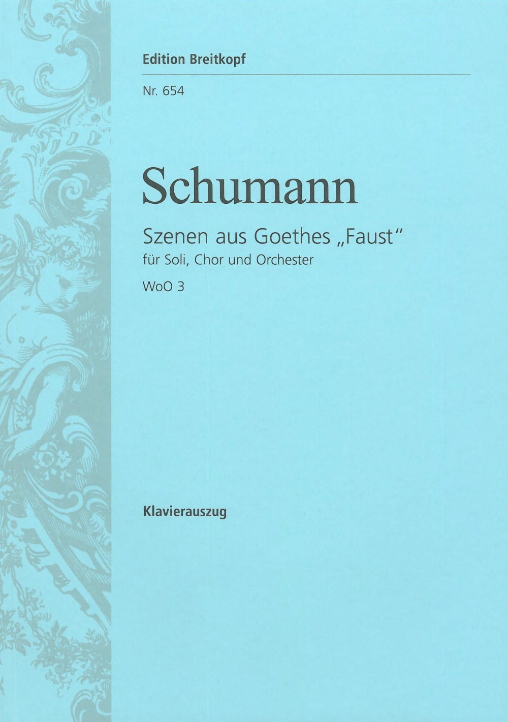 SCHUMANN - Scenes of Faust Woo 3 - Partition - di-arezzo.co.uk