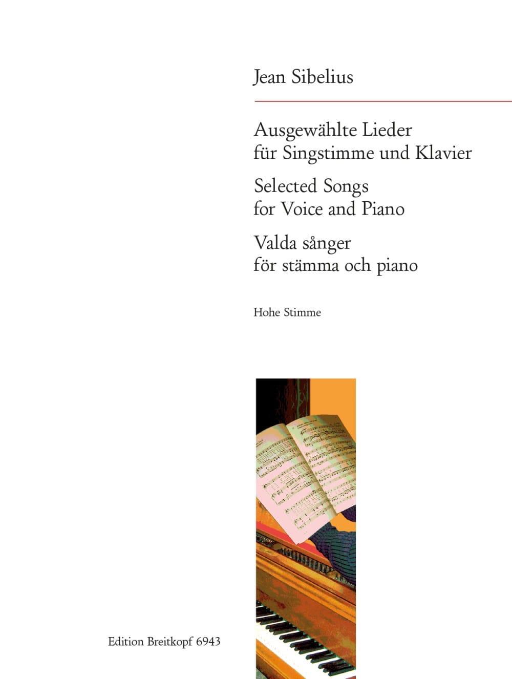15 Ausgewählte Lieder. Voix Haute - SIBELIUS - laflutedepan.com