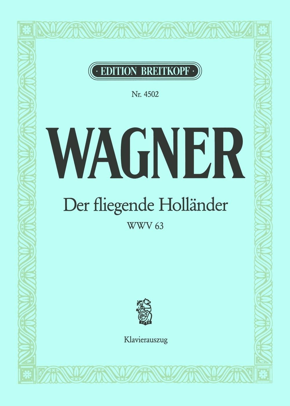 Richard Wagner - Der Fliegende Holländer Wwv 63 - Partition - di-arezzo.com
