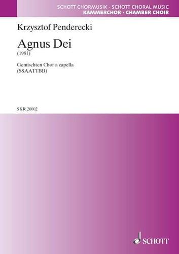 Krysztof Penderecki - Agnus Dei - Partition - di-arezzo.co.uk